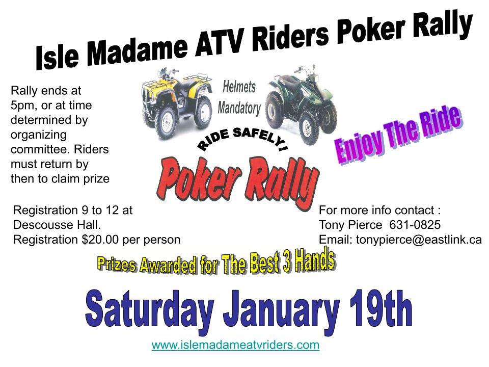 All Terrain Vehicle Association Nova Scotia - Poker Rally